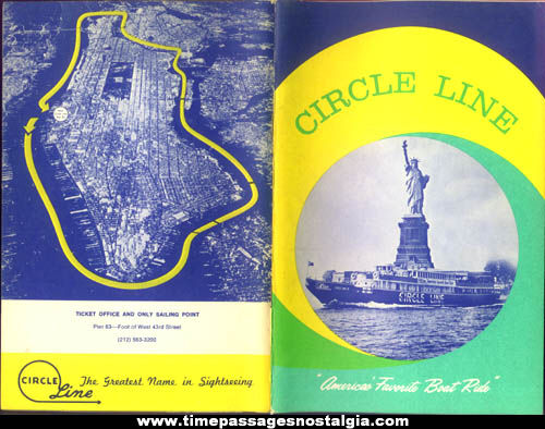 (3) Old New York Circle Line Cruise Boat Advertising Souvenir Picture Books