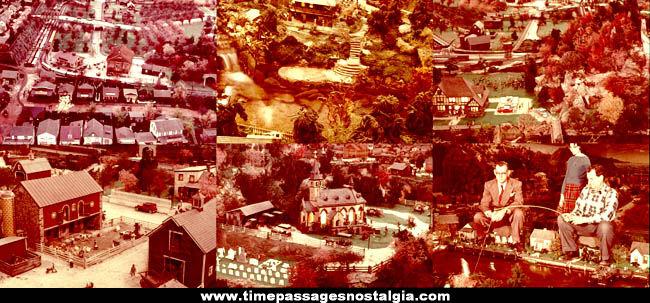 (12) 1966 Roadside America Miniature Attraction Photograph Slides