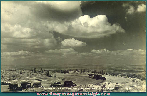 Old Unused Acadia National Park Real Photo Post Card