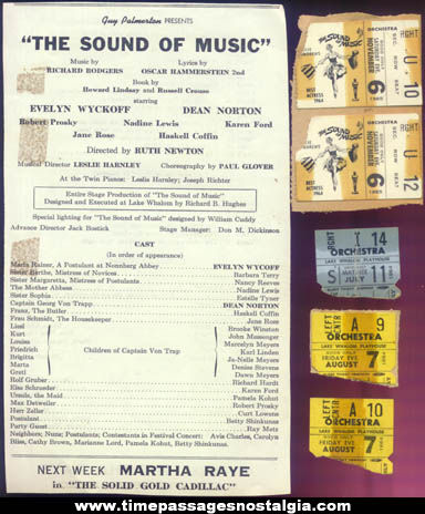 (8) 1960s Lake Whalom Playhouse Theatre Advertising Items