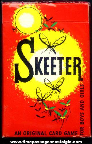 Old Unopened Boxed Skeeter Card Game
