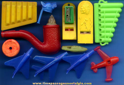 (12) Colorful Old Hard Plastic Novelty Toy Whistles