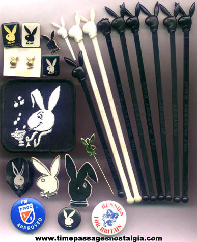 (23) Small Old Playboy Bunny Advertising Character Items