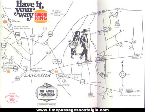 1978 Lancaster, Pennsylvania Burger King Advertising Brochure