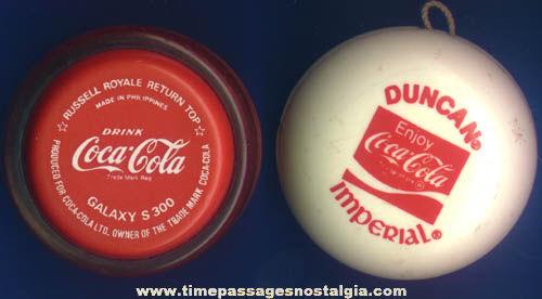 (2) Different Coca-Cola Advertising Yo-Yos