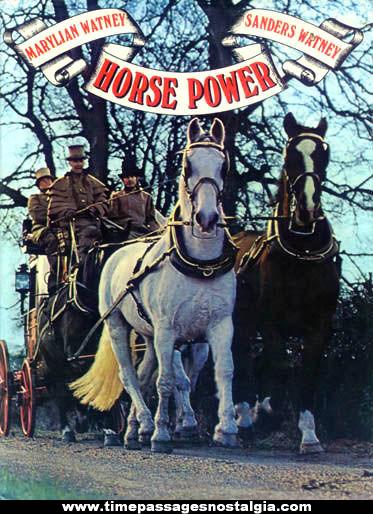 ©1975 Horse Power Horse & Wagon Transportation Book