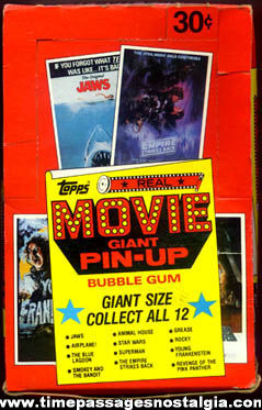 ©1981 Topps Display Case Box With (3) Pin Up Movie Posters & (37) Gum Packets