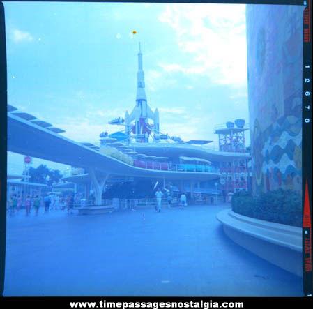Large Old Disneyland Tomorrowland Photograph Negative