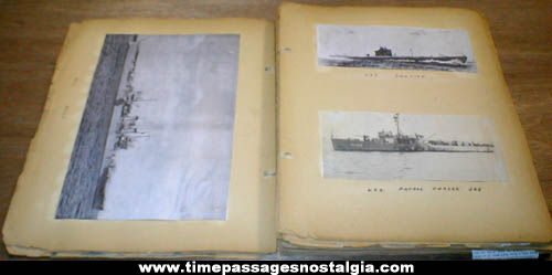 World War II United States Navy Picture & Article Scrapbook