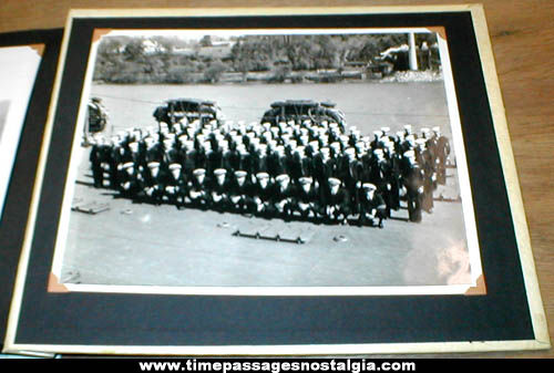 Old World War II Soldier & Sailor Military Photograph Album