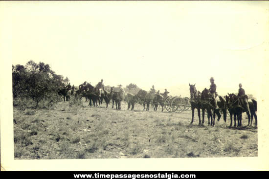 1918 World War I Military Photograph with Message