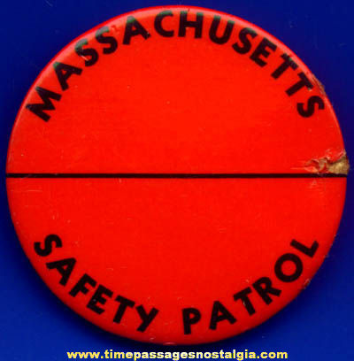 Large Old Massachusetts Safety Patrol Badge