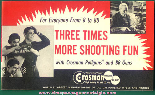Old Crosman Gas Powered Rifle and Pistol Advertising Booklet