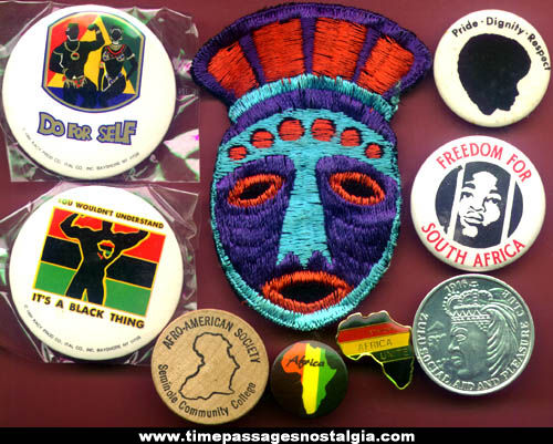 (9) Small African & Afro American Items