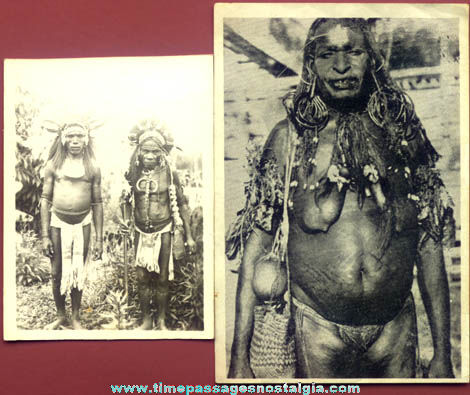 (2) Different Interesting Old Native Cultural Photographs