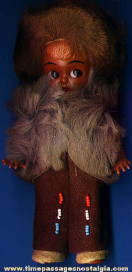 Old Native American Indian or Eskimo Child Doll
