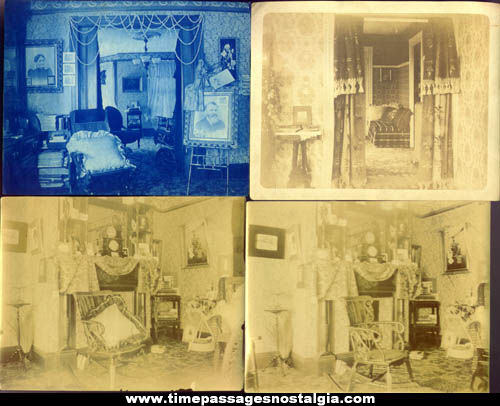 (8) Original Old Victorian House Interior Detail Photographs
