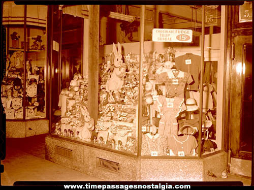 (13) 1944 J. J. Newberrys Department Store Large Interior & Exterior Photograph Negatives