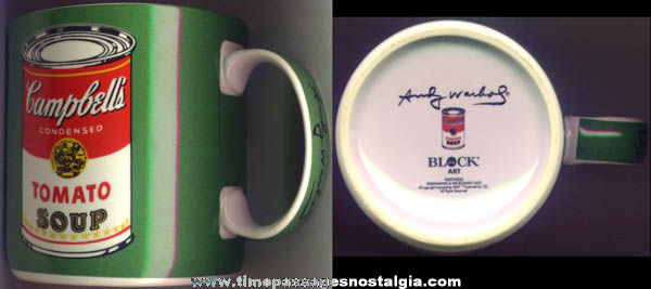 Andy Warhol Campbells Soup Can Advertising Art Coffee Cup