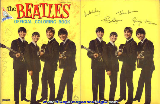 1964 Saalfield The Beatles Official Coloring Book - TPNC