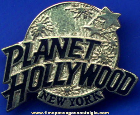 Enameled Planet Hollywood New York Advertising Souvenir Pin