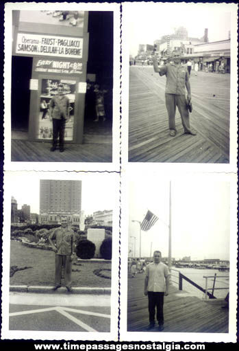 (12) 1958 Atlantic City New Jersey Boardwalk & Beach Photographs
