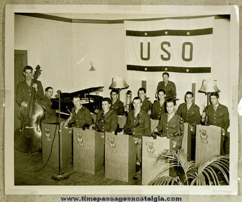 Large 1944 Army Air Force Band Photograph Negative