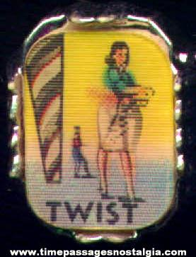 Unused Old Gum Ball Machine Prize Twist Dance Flicker Toy Ring