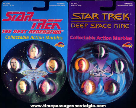 (2) Different Unopened Star Trek Character Marble Sets