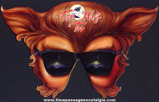 ©1987 Teen Wolf Too Promotional Advertising Premium Mask