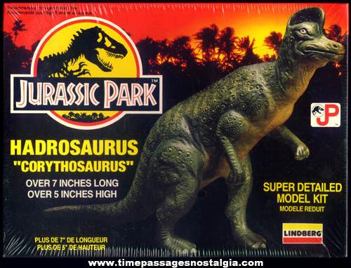 Unopened ©1992 Jurassic Park Movie Lindberg Dinosaur Model Kit
