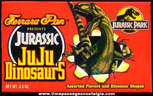 (3) Unopened ©1992 Boxes Jurassic Park Movie Ju Ju Dinosaurs Candy