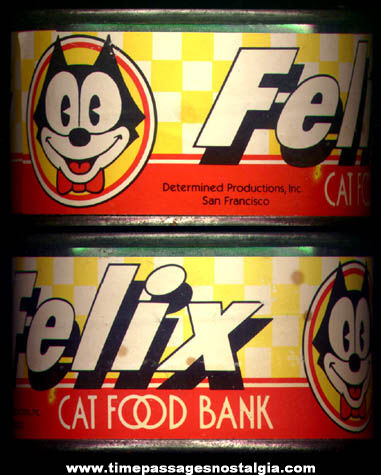 Old Felix The Cat Character Cat Food Can Savings Bank
