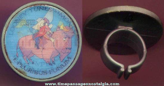©1987 Arby's Restaurant Warner Brothers Looney Tunes Yosemite Sam Cartoon Character Premium Toy Flicker Ring