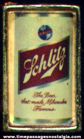 Old Metal Schlitz Beer Advertising Toy Ring
