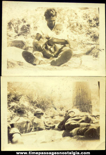 (2) 1925 Photographs With Borden Milk Advertising Case Box