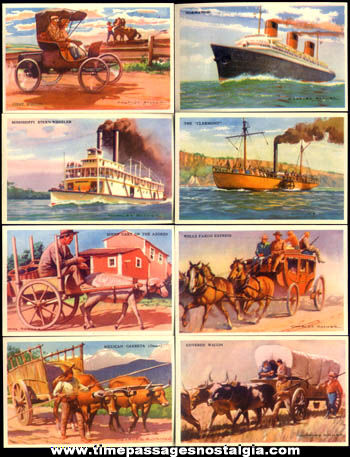 (22) Story Of Transportation Educational Picture Cards With Envelope