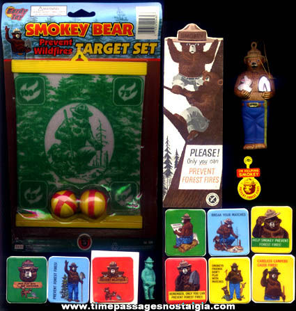 (14) Different Colorful Smokey Bear Character Items