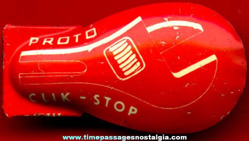 Old Advertising Premium Toy Tin Clicker