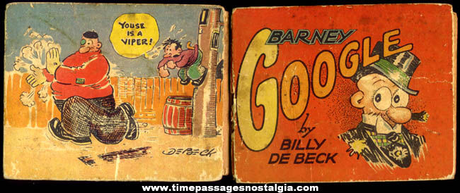 ©1935 King Features Syndicate Barney Google Comic Strip Character Book
