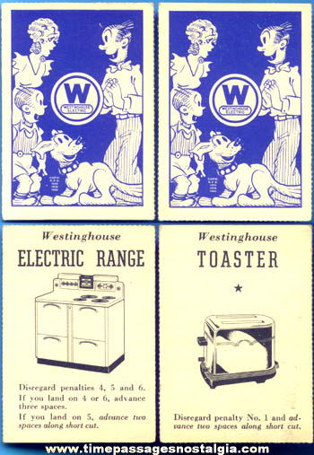 (2) ©1940 King Features Blondie & Dagwood Westinghouse Advertising Cards
