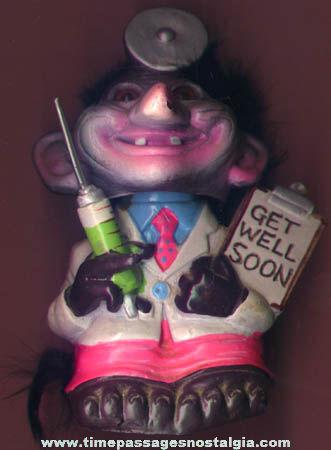 ©1972 Berries Nodder Doctor Troll Figure