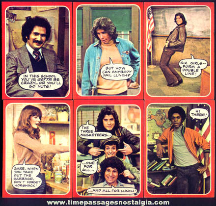 (34) ©1976 Welcome Back Kotter Topps Bubble Gum Trading Cards