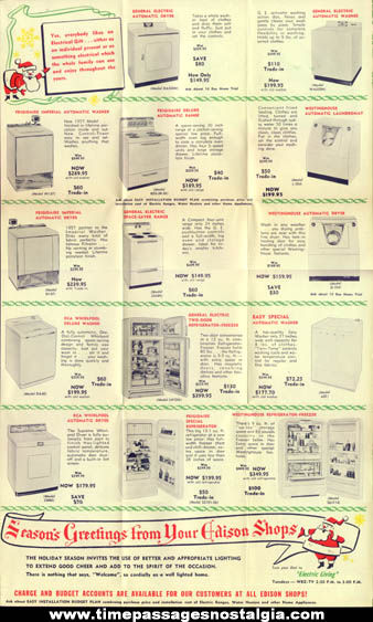 (3) 1958 New England Telephone & Telegraph Advertising Items