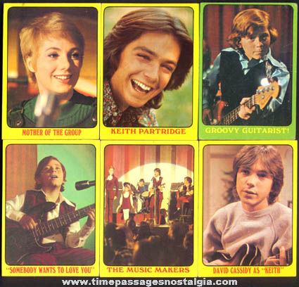 (14) ©1971 Partridge Family Topps Bubble Gum Trading Cards