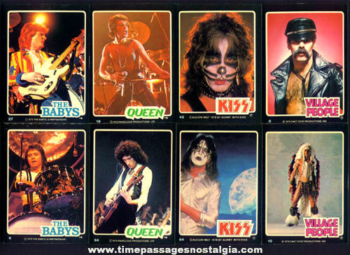 (66) ©1979 Music Band Bubble Gum Trading Cards