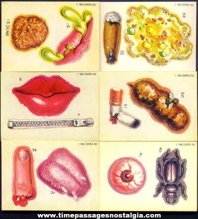 (45) Unusual ©1990 Bubble Gum Sticker Trading Cards