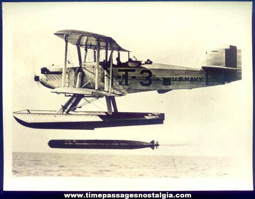 1930s United States Navy Torpedo / Observation Sea Plane Photograph