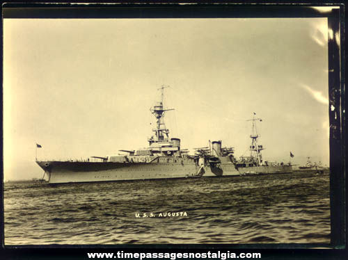 1930s United States Navy U.S.S. Augusta (CA-31) Ship Photograph