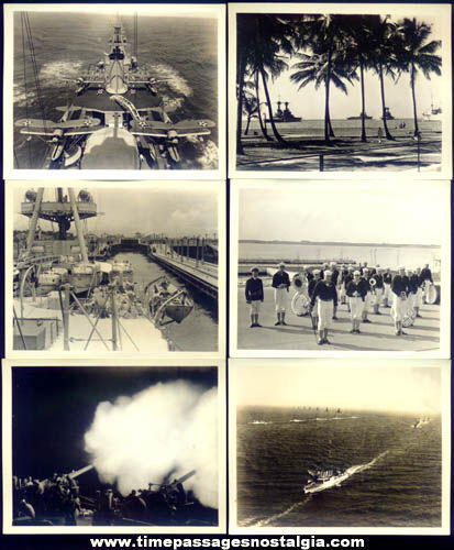 (6) 1930s United States Navy Heavy Cruiser Ship Photographs